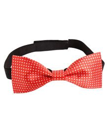 Needybee Printed Pre Tied Party Bow Tie - Red White