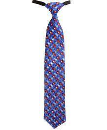 Needybee Diamond Printed Pre Tied Party Wear Tie - Blue Red And White