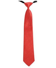 Needybee Checkered Printed Pre Tied Party Wear Tie - Red White