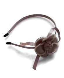 Aakriti Creations Flower With Pearls Hair Band - Light Pink