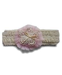 Aakriti CreationsFlower On Crotia Headband - Light Pink