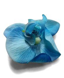 Aakriti Creations Flower Hairclip - Blue