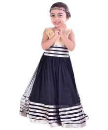 Bunchi Anarkali Style Gown - Black