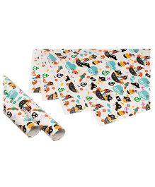 Papier Set Of 6 Pirates Gift Wrappers - Multicolour