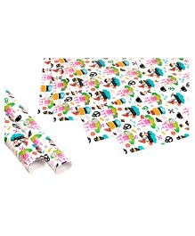 Papier Set Of 6 Pirate Princess Gift Wrappers - Multicolour