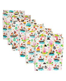 Papier Set Of 6 Pirate Princess Gift Bags - Multicolour