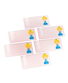 Papier Set Of 6 Envelope With Doll - Pink