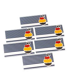 Papier Set Of 6 Sailboat Envelope - Navy Blue & White