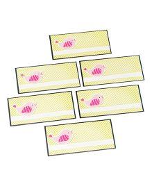 Papier Set Of 6 Bird Envelope - Yellow & Pink