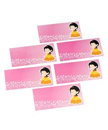 Papier Set Of 6 Envelope With Doll - Pink & Yellow