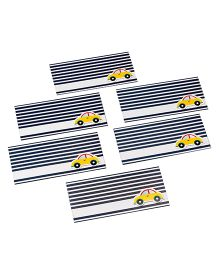 Papier Set Of 6 Car Envelopes - Blue Yellow & White