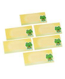 Papier Set Of 6 Froggie Envelopes - Yellow & Green