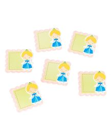 Papier Set Of 6 Doll Gift Tags - Blue & Green