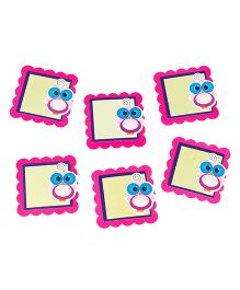 Papier Set Of 6 Owl Gift Tags - Yellow & Pink