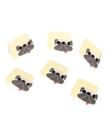 Papier Set Of 6 Doggie Gift Tags With Flap - Yellow & Brown