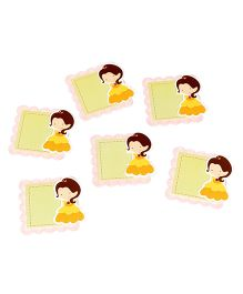 Papier Set Of 6 Doll Gift Tags - Green & Yellow