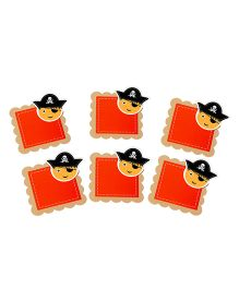 Papier Set Of 6 Pirates Gift Tags - Red
