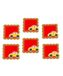 Papier Set Of 6 Car Gift Tags -  Red