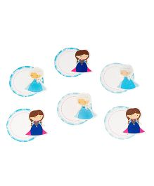 Papier Set Of 6 Winter Dolls Gift Tags - Blue & White
