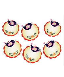 Papier Set Of 6 Bird Round Gift Tags - Multicolor