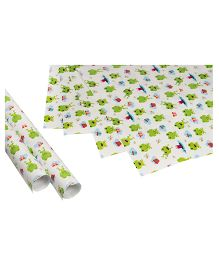 Papier Set Of 6 Froggie Gift Wrappers - Green