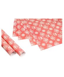 Papier Set Of 6 Crown Gift Wrappers - Pink