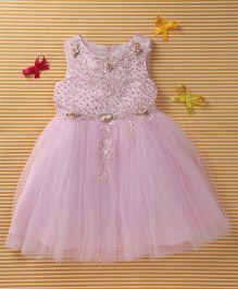 MFM Attractive Flower Design Princess Dress - Pink