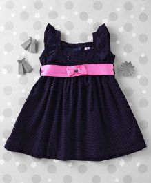 Mom's Girl Small Polka Dot Dress - Blue