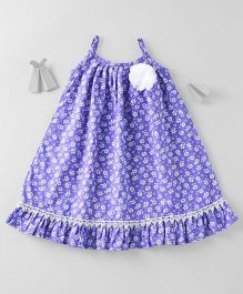Mom's Girl Floral Dress - Blue