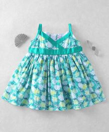 Mom's Girl Beautiful Printed Dress  - Green