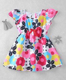 Mom's Girl Floral Print Dress - Multicolor