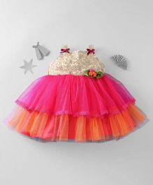 Mom's Girl Sleeveless Net Dress - Pink