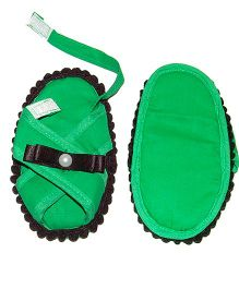 SnugOns Baby Sandals With Bow Applique - Green