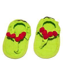 SnugOns Baby SlipOns With Gotta Design - Light Green