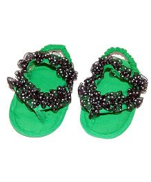 SnugOns Baby SlipOns With Frill - Green