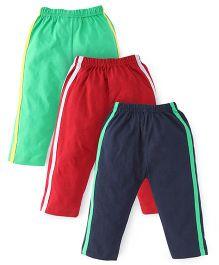 Little Full Length Track Pants Pack of 3 - Blue Red Green