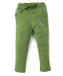 Olio Kids Track Pant With Drawstring Studded Crown Detailing - Green