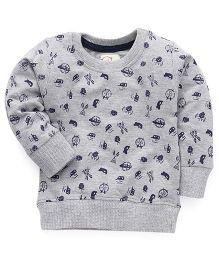 Olio Kids Full Sleeves Pullover Sweatshirt - Grey