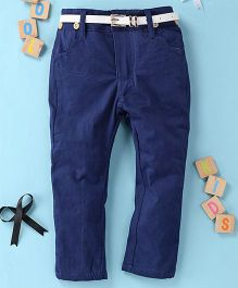 Little Star Girls Pant With Belt - Blue