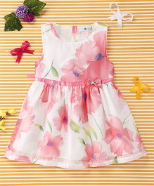 Smile Rabbit Stylish Floral Print Dress - Pink
