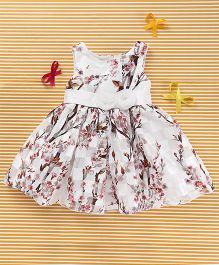 MFM Flower Print Dress - White