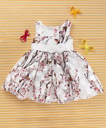 MFM Flower Print Dress - White