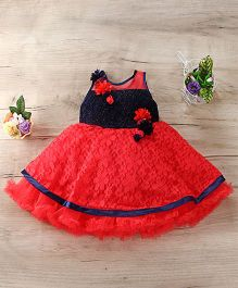 M'Princess Flared Floral Dress  - Red