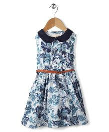 Ronoel Floral Print Dress With Belt - White