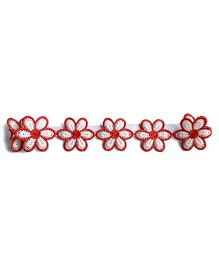 Milonee Floral Lace Headband - Red