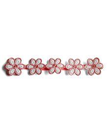 Milonee Floral Lace Headband - Peach