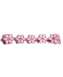 Milonee Floral Lace Headband - Pink