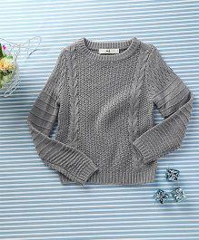 In.f Kids Casual Sweater - Grey