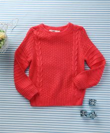 In.f Kids Casual Sweater - Red