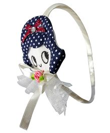 Sugarcart Doll With Bow On Hairband - Blue